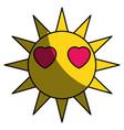 sun funny cartoon vector image vector image