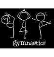 Three gymnasts vector image