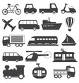 Transportation Icons Collection vector image vector image