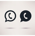 Two handset icons flat style vector image vector image