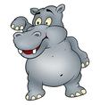 Hippo Waving Goodbye vector image