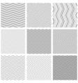 Zigzag seamless pattern set zig zag black simple vector image