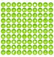 100 contact us icons set green circle vector image vector image