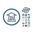 2016 Ahead Arrow Flat Icon With Bonus vector image vector image