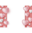 3d hearts and blank white paper