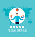 45 successful businessman with ideas and rising vector image