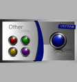 a set of buttons vector image