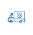 ambulance line icon concept ambulance flat vector image