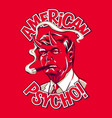 american psycho vector image