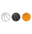 basketball icon isolated on white background set vector image