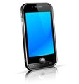 Black Mobile Cell Smart Phone vector image vector image