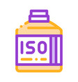 bottle with sport nutrition thin line icon vector image