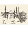 Cairo vintage engraved hand drawn sketch vector image