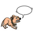 cartoon image of annoyed dog vector image vector image