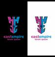 castle logo sport kingdom fortress empire vector image vector image