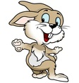 cheerful rabbit vector image vector image