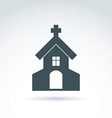 Christian church with a cross of a temple vector image