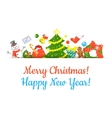 Christmas Symbols Background Horizontal Header vector image vector image
