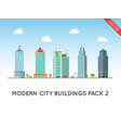 city buildings set downtown landscape vector image vector image