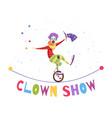 clown show vector image vector image