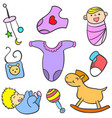 collection stock of baby toy object vector image vector image