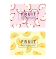 Colorful background with fruits 3 vector image vector image