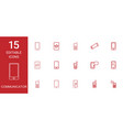 communicator icons vector image vector image