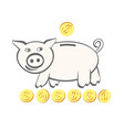 container for saving money shaped like a pig vector image