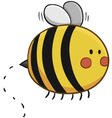 Cute Bee Flying vector image