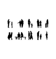 different family silhouettes vector image