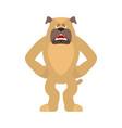 dog angry pet evil emoji avatar bulldog aggressive
