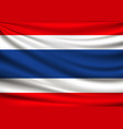 flag of thailand fabric design background vector image vector image