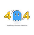 flat line icon concept of 404 error page or file vector image vector image