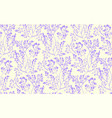 floral seamless pattern with flowers and leaves vector image vector image