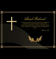 funeral announcement in luxurious design filigree vector image vector image