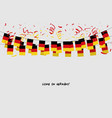 germany garland flag with confetti vector image vector image