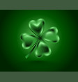 glossy green clover leaf vector image