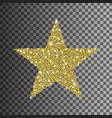 gold glitter star on transparent background vector image vector image