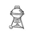 hand drawn grill icon vector image vector image