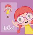 hello beautiful girl vector image