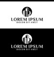 high rise building logo template with apartment vector image vector image