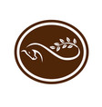 horse mobius strip branch oval vector image vector image