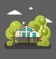 house on the tree for adults and kidsflat vector image vector image