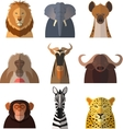 Icons of african animals2 vector image vector image