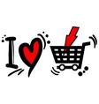 love buy symbol vector image vector image