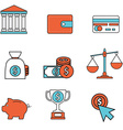 Money and Finance Icons flat modern design vector image vector image