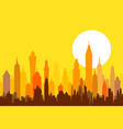Morning Modern Skyline vector image vector image