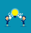 people exchanging question and ideas concept vector image