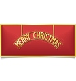 Red Christmas design lettering on signboard vector image vector image