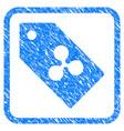 ripple token framed stamp vector image vector image